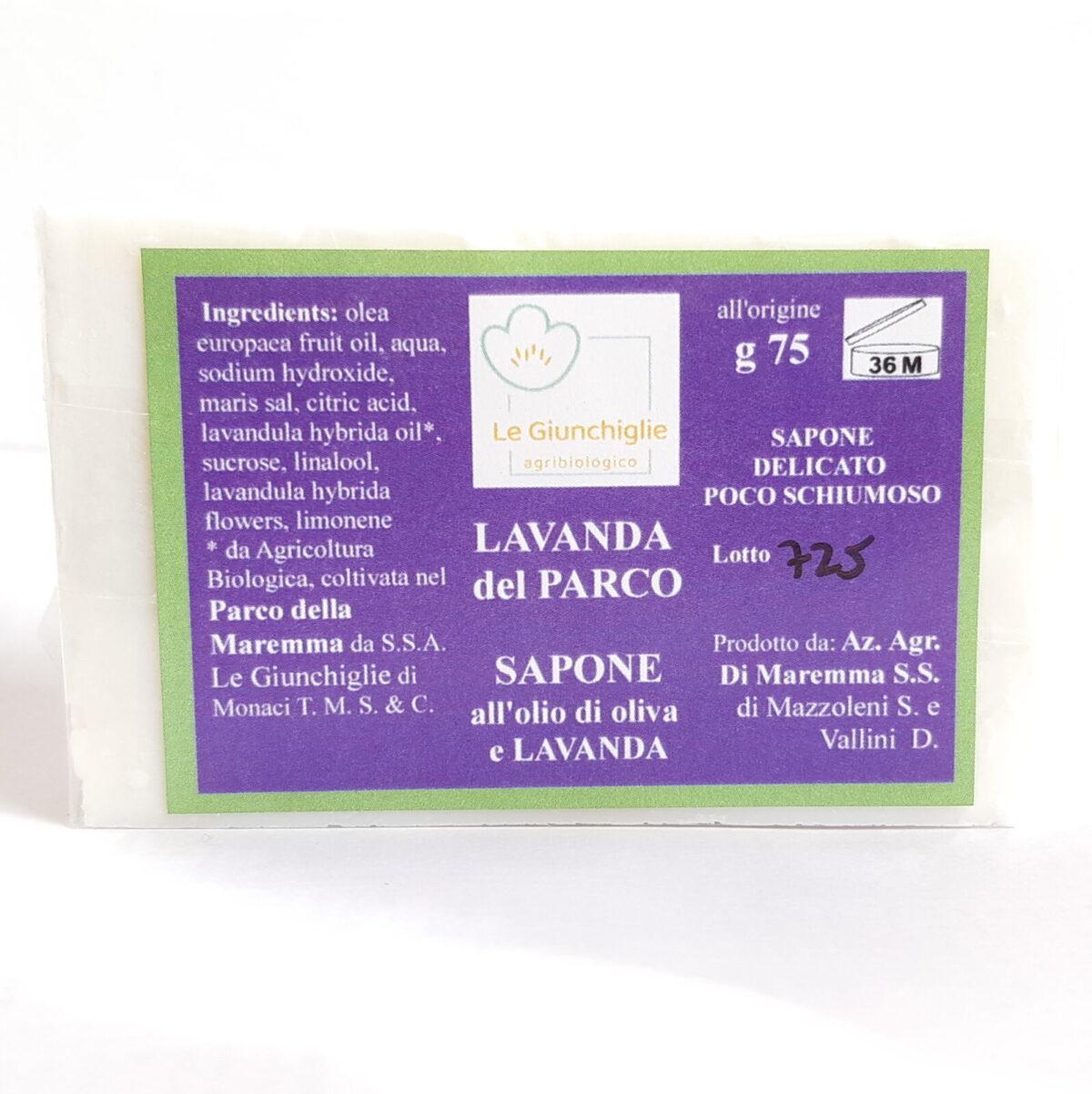 sapone solido alla lavanda bio